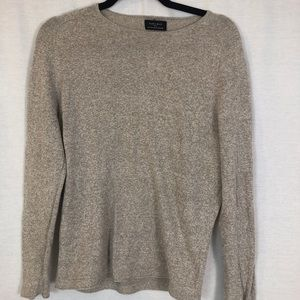Zara Mens | Basics Tan Crew Neck Long Sleeve Small